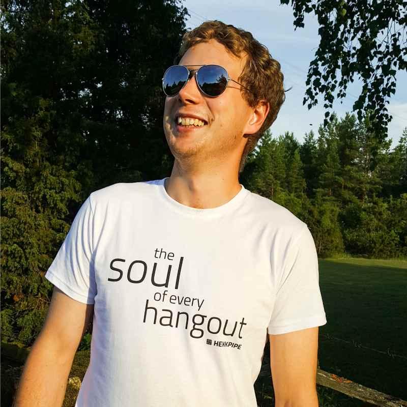 Hookah brand merch - white T-shirt for men - lifestyle fan gear photo