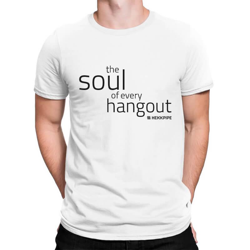 Shisha merch - white t-shirt for men Hekkpipe