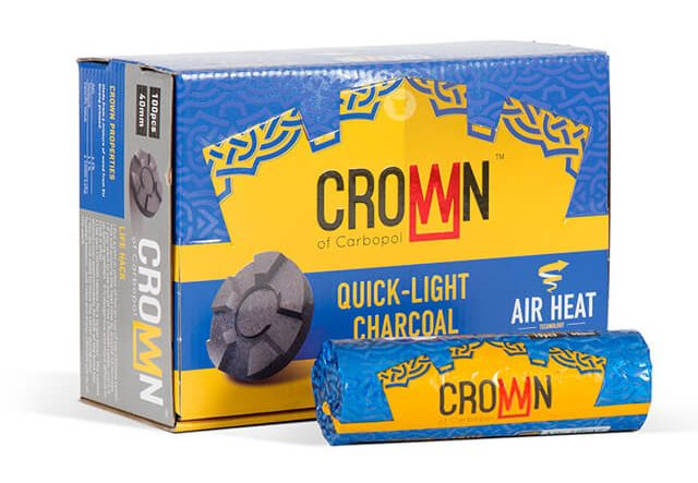 CarboPol Crown 40mm instant hookah coal