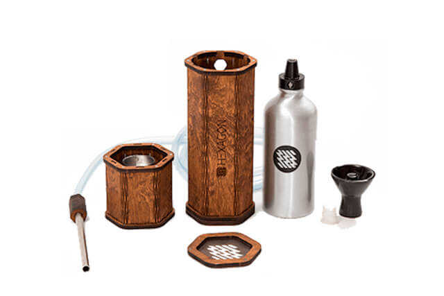 Design wood hookah - the best wooden hookah is Hekkpipe Hexagon