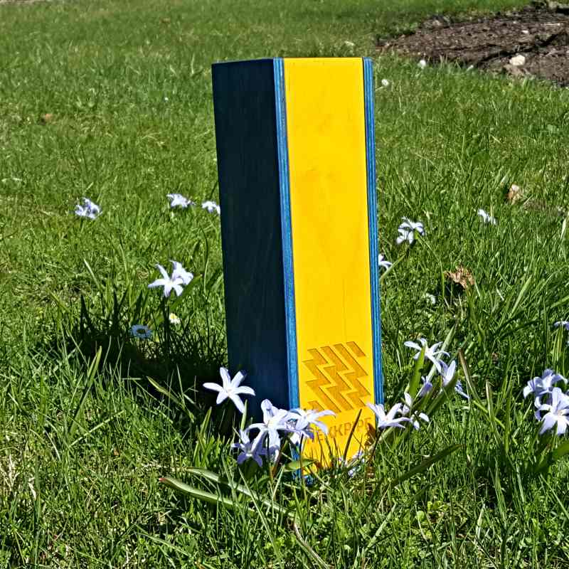 Hookah front cover - Ukrane flag blue and yellow
