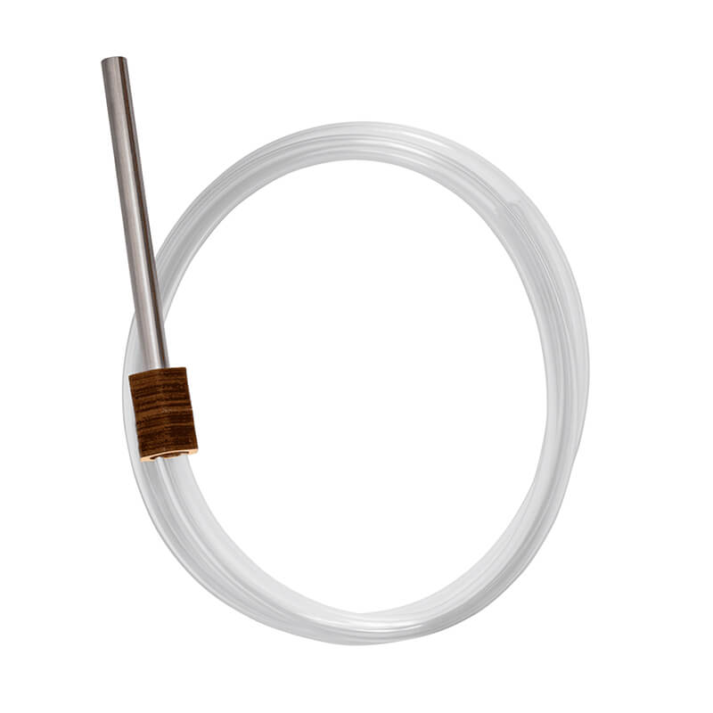 Hoses for hookahs - washable wooden hose with stainless steel mouthtip