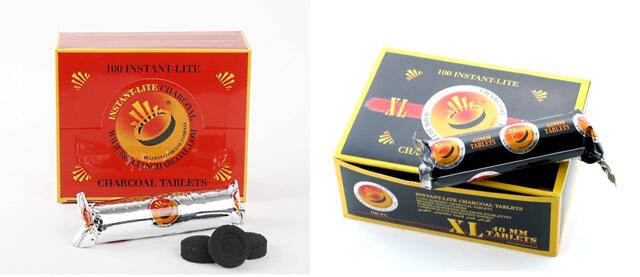 Instant Lite 33mm or 40mm instant hookah coal