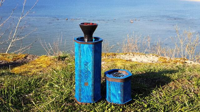 fresh hookah taste - using tinfoil-with-blue-hekkpipe-hexagox