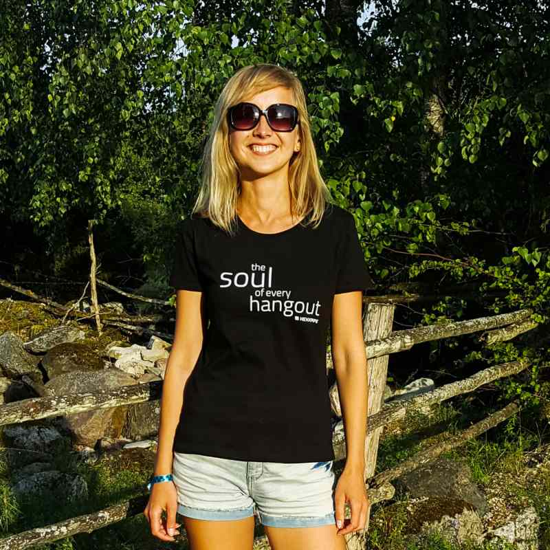 Black T-shirt for women - hookah brand fan gear