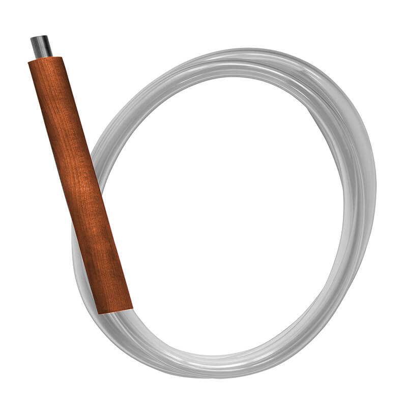 brown shisha hose made of wood and washable materials