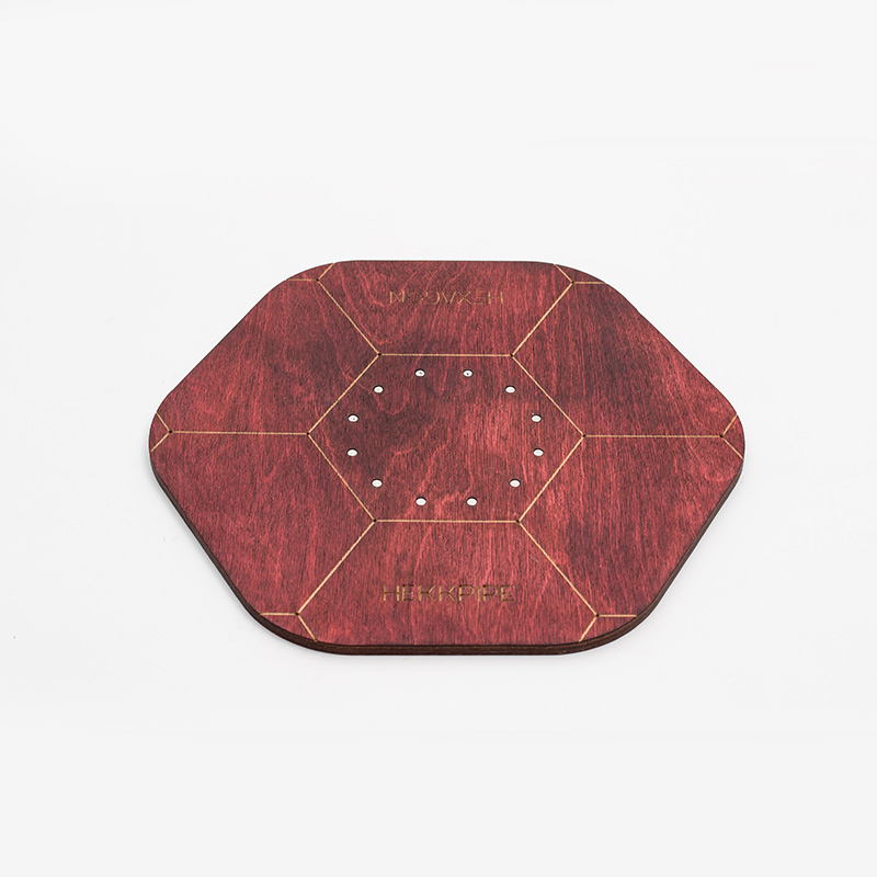 Shisha plate - mahogany color, made of wood and stainless steel magnets