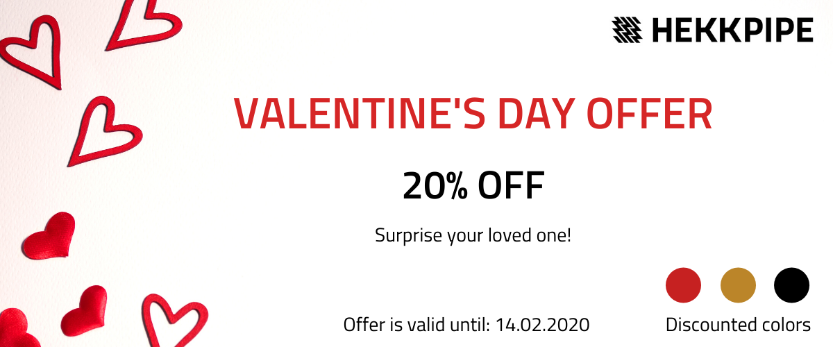 Valentines Days offer - sale for hookah Hekkpipe
